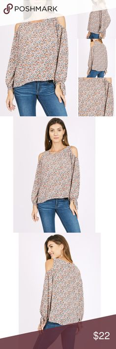 Cold Shoulder Floral Print Top Cold Shoulder Floral Print Top  ☀️ ☀️Made in USA  🕊Serious buyers please & No Low ballers! Asking for half or more off an item is Low Balling.   🕊Please understand the sizes listed on the size chart are different between manufacturers & suppliers & this chart should only be used as an approximate guide. Amor Adore Tops Blouses