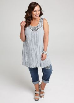 Step out in style in the latest Plus Size Fashion from Taking Shape. Shop sizes 12 - 24 online today and get Free Shipping in Australia Over $60, CASTAWAY TUNIC