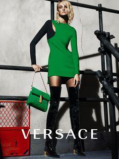 Caroline Trentini by Mert Alas & Marcus Piggott for Versace Fall Winter 2015-2016