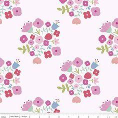 Riley Blake Designs - 2016 Double Gauze - Hedgerow Bouquet Double Gauze in Pink