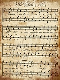 Grungy Aged Vintage Christmas Carol Music by CuriousCrowDigital, $3.50