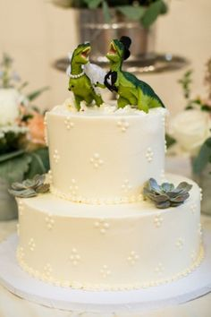 You want your wedding day to really hit the quirky-unique-whoa-that's-awesome spot. We get it and we're here to help with these unusual wedding cake toppers Barn Wedding Cakes, Unusual Wedding Cakes, Quirky Wedding, Wedding Topper, Beautiful Wedding Cakes, Gorgeous Cakes, Rustic Wedding, Funny Wedding Cake Toppers, Wedding Things