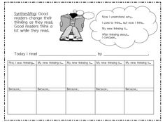 Synthesizing - Graphic Organizer - Thinking Stems - Use this for a guide when making your anchor charts. Johnson teachers can find this on Vol 1 in the Title I folder.