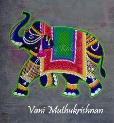 Rangoli Designs Latest, Latest Rangoli, Rangoli Kolam Designs, Beautiful Rangoli Designs, Thali Decoration Ideas, Flower Decorations, Rangoli Colours, African Art Paintings, Diwali Rangoli