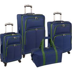 Nautica Bay Breeze 4 Piece Luggage Set (20'/24'/28') *** Be sure to check out this awesome product. (This is an Amazon Affiliate link)