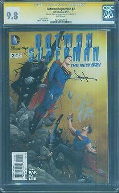 Batman Superman 2 CGC 2X SS 9.8 Pak Jae Lee Dawn Justice League Top 1 Movie