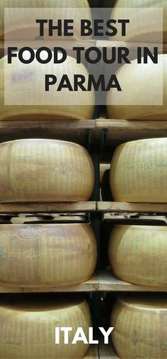 The best food tour in Parma Italy.  A must for any travelling foodie. Learn how parma ham, balsamic vinegar and parmigiano reggiano cheese is made, the authentic way.