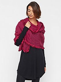 Eileen Fisher tassel scarf...love this way to drape it!