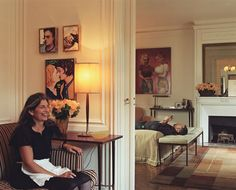 "marc jacobs's paris apartment. i hate john currin, but i love the way the art has been integrated into ""normal"" space."