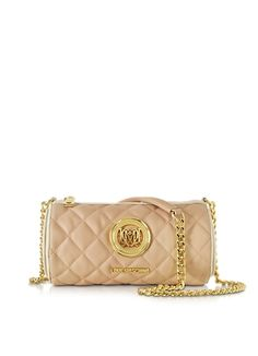 0d07c9a17b4ce Love Moschino Handbags Quilted Eco Leather Pouch (€84) ❤ liked on Polyvore  featuring