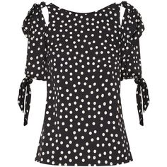 DOLCE GABBANA Polka Dot Blouse ❤ liked on Polyvore featuring tops, blouses, dolce gabbana blouse, white cut out top, cut-out tops, white boatneck top and white crepe blouse