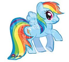 Amazon.com: My Little Pony Rainbow Dash Shaped Character Mylar Foil Balloon- Birthday Party: Toys & Games