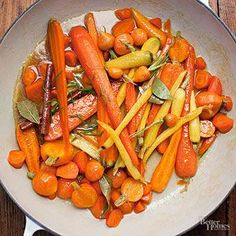 For a fresh twist on this classic Thanksgiving side dish, glaze carrots with verjus, the pressed juice from unripe grapes; it has a sweet-tart flavor and is similar to, but less sharp than, vinegar./