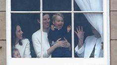 Prince George Steals Show at Queen Elizabeth II's Birthday Celebration - ABC News