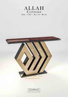 ALLAH Console- Design Pont des Arts Studio-Paris- Monzer Hammoud - #table#oriental#luxuryhome#brass#sculpture#unique#design#pontdesarts#console