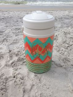 Hand Painted Personal Drink Cooler via Etsy
