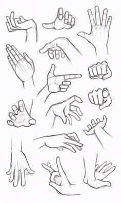 Copy's and Studies: Hands by HIRVIOS on @DeviantArt