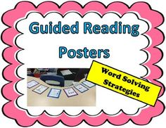 FREEBIE Reading Strategy Posters-For guided reading Table-Remember to leave feedback! #education #teachers