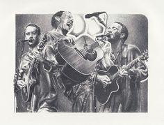 Dave Matthews Original Sketch Art Poster Print by by Innerwallz, $15.00