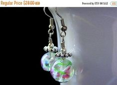 HALLOWEEN SALE Lampwork Earrings. Flower Earrings Beaded Earrings with Pink Flowers - Peony Petals in Air. Handmade Earrings. by Gilliauna from Bits n Beads by Gilliauna. Find it now at http://ift.tt/2dOo44w!