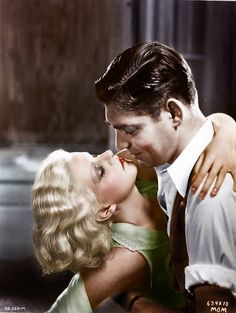 """RED DUST (1932) - Clark Gable & Jean Harlow - Directed by Victor Fleming - MGM - In 1953, Gable starred in the MGM re-make of this film under the new title of """"Mogambo"""""""