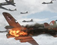 HELL OVER GERMANY: Colour (RARE) Footage of B-17s VS. Luftwaffe (1944, 7...