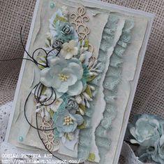 Karteczka bez okazji...w lekkich błękitach...z   Wycinankowym ornamentem            ***   Dziękuję za odwiedziny i wszystkie pozostawione ...
