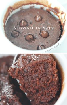 Brownie in Mug - 5-Ingredient Microwave Recipe - Eugenie Kitchen in the recipe it says to microwave for one min. But for better results do it for two