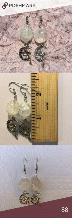Fairy Earrings Clear Quartz Please feel free to ask any questions! handmade Jewelry Earrings