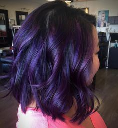 eggplant plum aubergine 20 Plum Hair Color Ideas for Your Next Makeover Dark Violet Hair, Dark Purple Hair Color, Short Purple Hair, Violet Hair Colors, Plum Hair, Bright Hair Colors, Burgundy Hair, Brown Hair, Colourful Hair
