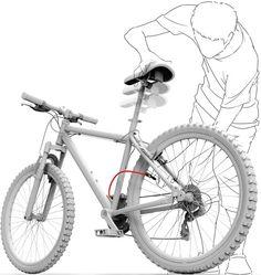 シートが空気入れになった自転車「Inflator Bicycle(空気入れ自転車)」