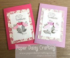 Paper Daisy Crafting: Celebrate with Flowers Card No 3 Paper Daisy, Handmade Cards, Stampin Up, Crafting, Celebrities, Board, Flowers, Projects, Fun