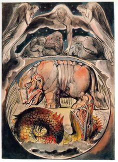 Behemoth and Leviathan by William Blake