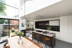 A Victorian London Home with a Glass Extension (Gravity Home) Attic Apartment, Apartment Design, Glass Extension, Rear Extension, Gravity Home, Victorian London, Kitchen Dinning, Kitchen Photos, Diy Bed