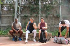 Just 4 guys chilling by the park. Chilling, Athlete, Park, Guys, Fitness, Inspiration, Biblical Inspiration, Parks, Boyfriends