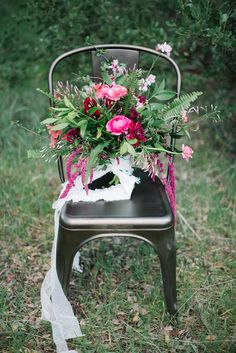 spring bouquet - photo by Shannon Rosan Photography http://ruffledblog.com/eco-friendly-california-wedding-with-marsala #bouquets #weddingbouquet #flowers