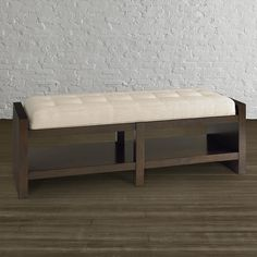Modern Rectangular Bench - also avail in gray Entryway Bench, Storage, Modern, Furniture, Gray, Home Decor, Home Decoration, Grey, Hall Bench