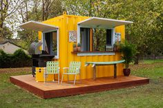 shipping container BBQ shack