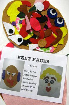 Plum Jam: Felt Faces For Busy Bags