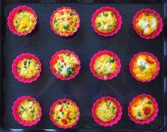 Mini omlete la cuptor in 4 feluri Ricotta, Broccoli, Eggs, Breakfast, Ethnic Recipes, Diana, Amp, Food, Morning Coffee