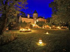 French Chateau for sale in 24 - Dordogne , Aquitaine France. This delightful 13th C Chateau with a living area of 300 m2 was completely restored in 1994. The property, near Montignac, is set in an estate of 14 ha, and includes a Presbytery and a guest house, both of which provide independent accommodation, and a swimming pool.