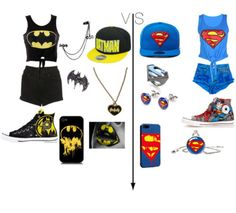 Dibs on batman! Nerd Outfits, Twin Outfits, Fandom Outfits, Couple Outfits, Superman Outfit, Batman Outfits, Batman Vs Superman, Summer Outfits For Teens, Teen Summer