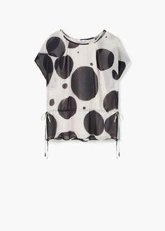 Fließendes hemd mit muster - Blusen für Damen | MANGO Österreich