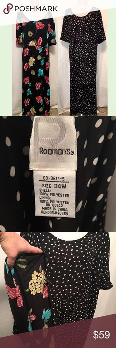 What?? Wear it 2 ways! Reversible plus size dress! 2 dresses in one!!! EUC! Plus size 34 roamams Dresses