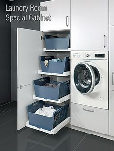 Modern Laundry Rooms, Laundry Room Layouts, Laundry Room Remodel, Laundry Room Organization, Laundry In Bathroom, Organization Ideas, Laundry Area, Utility Room Designs, Laundry Room Inspiration