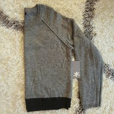NWT Splendid Gray Sweater Brand new with tags Splendid gray color blocked sweater. Great way to start this winter season. Splendid Sweaters