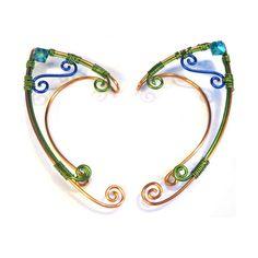 Elf Ear Cuffs  Tritone Custom Colors by MadeByKozee on Etsy, $48.00