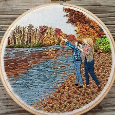Bordados de retratos por Lady Jane Longstitches;