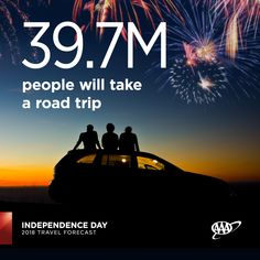 The vast majority of travelers will hit the road this #IndependenceDay. Tuesday, July 3 will be the busiest travel day, according to INRIX. #travelforecast www.newsroom.aaa.com Summer Travel, Amazing Destinations, Independence Day, Where To Go, Road Trips, Tuesday, Summertime, National Parks, Boat