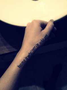 home is wherever i'm with you. From one of my favorite songs <3